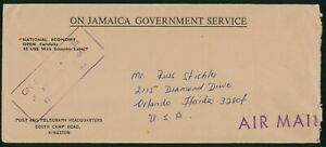 Mayfairstamps Jamaica National Economy to Orlando FL Air Mail Cover wwp_51507