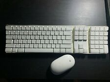 Apple Mac White Bluetooth Wireless Keyboard A1016 Numeric Keypad AND MOUSE A1197