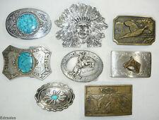 8 Belt Buckles - SouthWestern, Native American Style, Cowboy, Horse, Aspen
