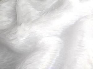 Plain Fun Faux Fur Fabric Material - BRIGHT WHITE