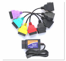 Fiat Alfa Modified ELM 327 v1.4 OBD2 + Green Red Yellow cables
