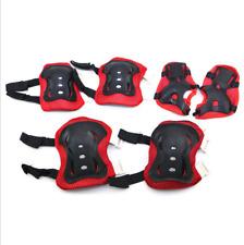 Set of 6 Childrens Protective Pad Kids Wrist Elbow Knee Protectors Gear Set 80g