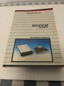 Vintage Computer Manual - PACKARD BELL MODEM 2400BPS reference manual (1987)