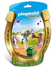 BNIP Playmobil 6969 PONY FARM Groomer with Heart Pony
