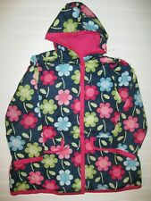 NWT Gymboree Smart and Sweet Size 5-6 Blue Flower Rain Coat Jacket