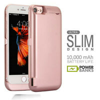 10000mAh Battery Charging Power Bank Charger Case Cover For iPhone 8 7 Plus X 6s
