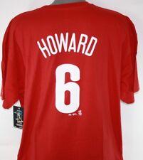 Majestic Philadelphia Phillies #6 Ryan Howard Red Player Big Sizes T-shirt