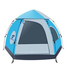 5-6 People Outdoor Tent 4 Season Waterproof Blue Automatic
