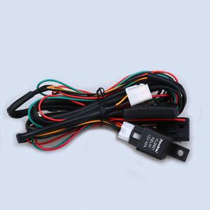 LED Work Fog Light Bar Wiring Harness Relay High Design Kit ON/OFF Switch