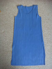 "Vintage ISSEY MIYAKE  ""Pleats Please"" Speedwell Blue Mini Dress Size 4"