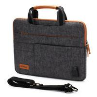 """DOMISO Laptop sleeve case Shoulder Macbook Bag for 10"""" 12.5"""" 13"""" 14"""" 15.6"""" 17"""""""