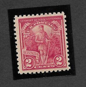 US Stamp Scott #643   -- .VERMONT GREEN MTN MAN  2¢ ea M/NH    c1927