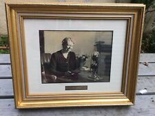More details for nicely framed photograph of eleanor roosevelt with autograph signature below