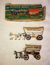 Vintage Knott's Berry Farm Souvenir Ghost Town Covered Wagon Lot