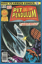 Marvel Classics Comics 28 Pit & the Pendulum High Grade Edgar Allan Poe