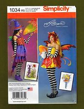 Fantasy Fairy Costume & Hat Sewing Pattern~Amy Brown (14-22) Simplicity 1034
