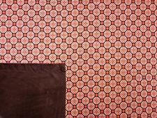 Floreale Legato pelliccia Jersey Arancione B61 Retrò Felpa Tessuto Stretch sartoriale