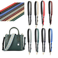 Replacement Purse Bag Strap Adjustable Guitar Style Colorful Leather for Handbag