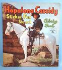 1951 Hopalong Cassidy Sticker Fun Stencil Coloring Book William Boyd Whitman
