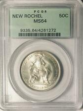 1938 New Rochelle Commemorative Silver Half Dollar PCGS MS 64 - Mint State 64