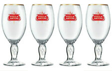 More details for 4 x  stella artois half pint beer glasses special edition star & red logo design