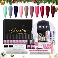 COSCELIA Gel Nail Polish Set Soak Off UV LED Nail Dryer Lamp Manicure Tool Salon