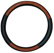 WOOD LEATHER Effect Steering Wheel Cover M17/5