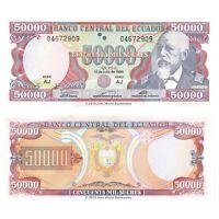 Ecuador 50000 Sucres 1999 P-130d Banknotes UNC