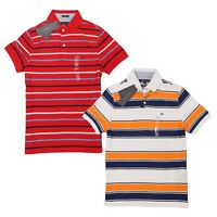NWT Tommy Hilfiger Mens Polo Shirt Short Sleeve Classic Fit Flag Logo Striped XS