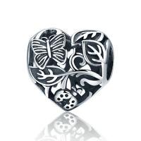 Christmas 925 Sterling Silver Garden Pendant Charm For Women Bracelet Necklace