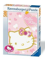 RAVENSBURGER HELLO KITTY SCINTILLANTE GLITTERING HELLO KITTY 500 PEZZI ART 14576