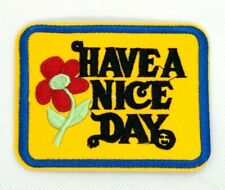 Have a Nice Day Iron-on Patch Vintage 70s Style Retro Hippie Boho Flower ( 361 )