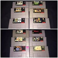 SNES Super Nintendo Games Lot - Tested/Working. (12 Games Total)