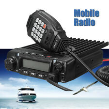 12V 150km 75W Vhf Mobile Car Marine Radio Walkie Talkie Transceiver Microphone