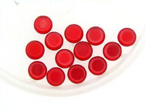 Vintage Japan Ruby Red Slippers Optic Satin Round Lentil Tablet Lucite Bead Lot