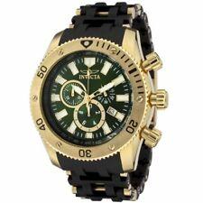 Reloj Cronógrafo invicta 0141 Para Hombre Correa De Tono Dorado Dial Verde Oliva