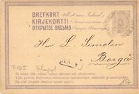 Finland 1875 Postal Stationery Card Railway FREE SHIPPING WORLDWIDE (A13)