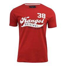 Nuevo, para Hombre Kangol Camiseta Algodón de Manga Corta Top Cuello Redondo