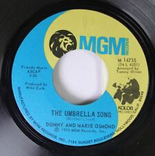 Rock 45 Donny And Marie Osmond - The Umprella Song / I'M Leaving It (All) Up To