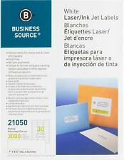 Business Source&Trade; Mailing Laser Label, 1X2-5/8 White