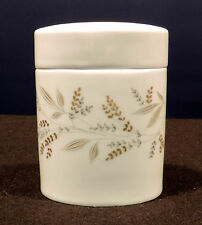 Alboth & Kaiser Anette covered container gold gray leaves flowers Bavaria