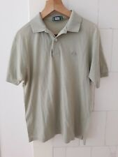 Mens Sergio Tacchini Polo T Shirt fastcolours Medium mens Olive green retro vtg