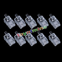 10 X Durable 4 Pin RJ11 6P4C Modular Plug Connector for Telephone Phone RT