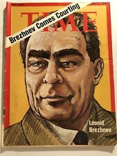 1973 TIME MAGAZINE Russian Leader LEONID BREZHNEV No Label BREZHNEV COMES TO USA