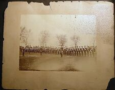CIRCA 1875 LARGE MILITARY ACADEMY PARADE GROUND PHOTO PACH BROTHERS IMAGE