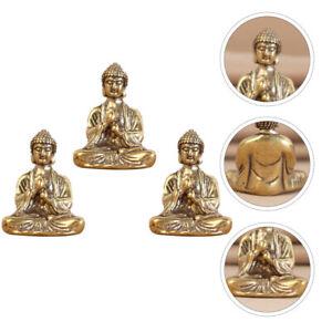 3Pcs Mini Statues Desk Ornaments Ornaments for Shelf Decor Home