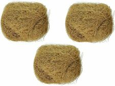 Natural Coconut Fiber Nesting Material Birds Finch Nest Small Animal Cage 3pack*