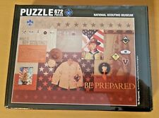 """NEW Boy Scouts National Museum jigsaw puzzle 672 piece - """"Be Prepared"""" collage"""