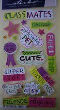 NEW 16 pc CLASSMATES Field Trip Friends School Teacher's Pet STICKO Stickers