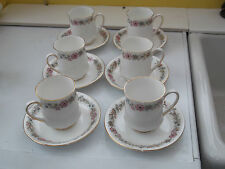 SIX PARAGON CHINA CUPS AND SAUCERS IN BELINDA PATTERN  BACKSTAMPS  ARE  WHOLE